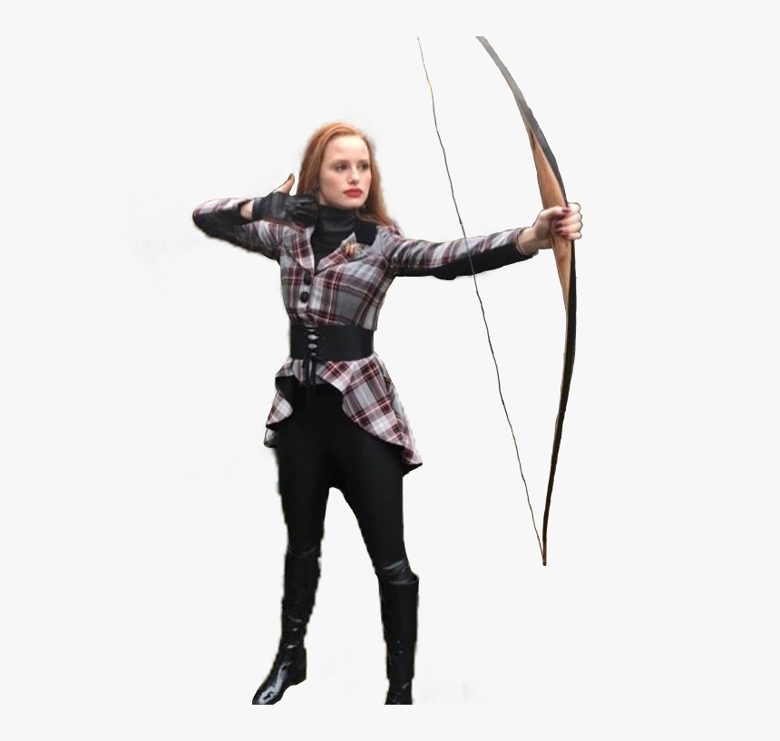 Cheryl Blossom Archery , Png Download - Cheryl Blossom Bow And Arrow, Transparent Png, Free Download
