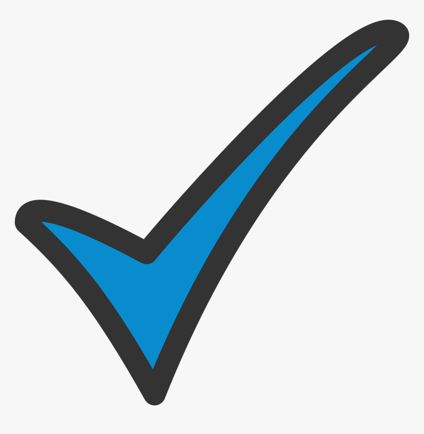 Clipart Blue Tick, HD Png Download, Free Download