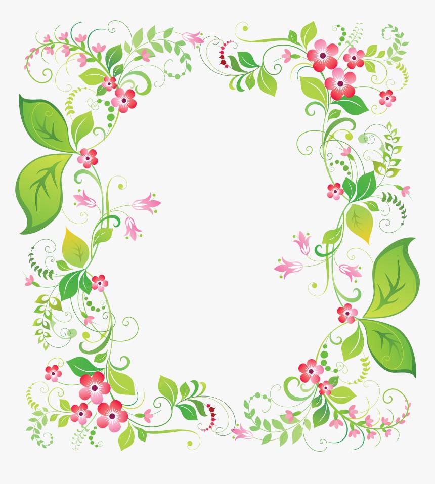 Floral Frame Png - Frame Flower Art, Transparent Png, Free Download