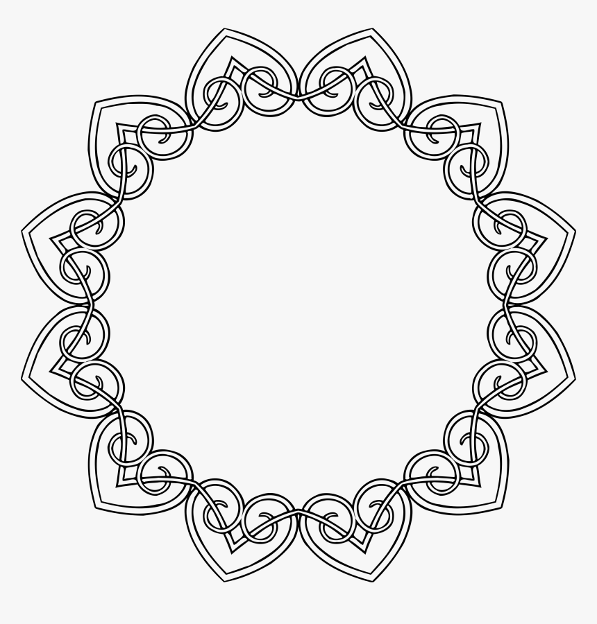 This Free Icons Png Design Of Hearts Frame- - Circle, Transparent Png, Free Download