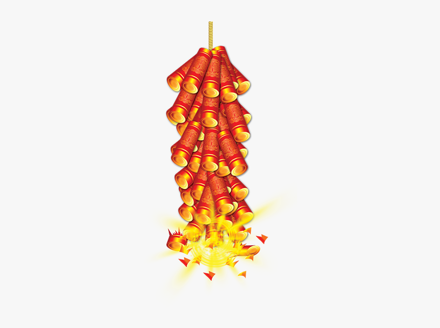 Diwali Firecrackers Png Hd Quality - Chinese New Year Firecrackers Png, Transparent Png, Free Download