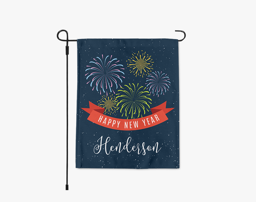 Personalized Happy New Year Fireworks Garden Happy - Proud To Be A Usmc Veteran, HD Png Download, Free Download