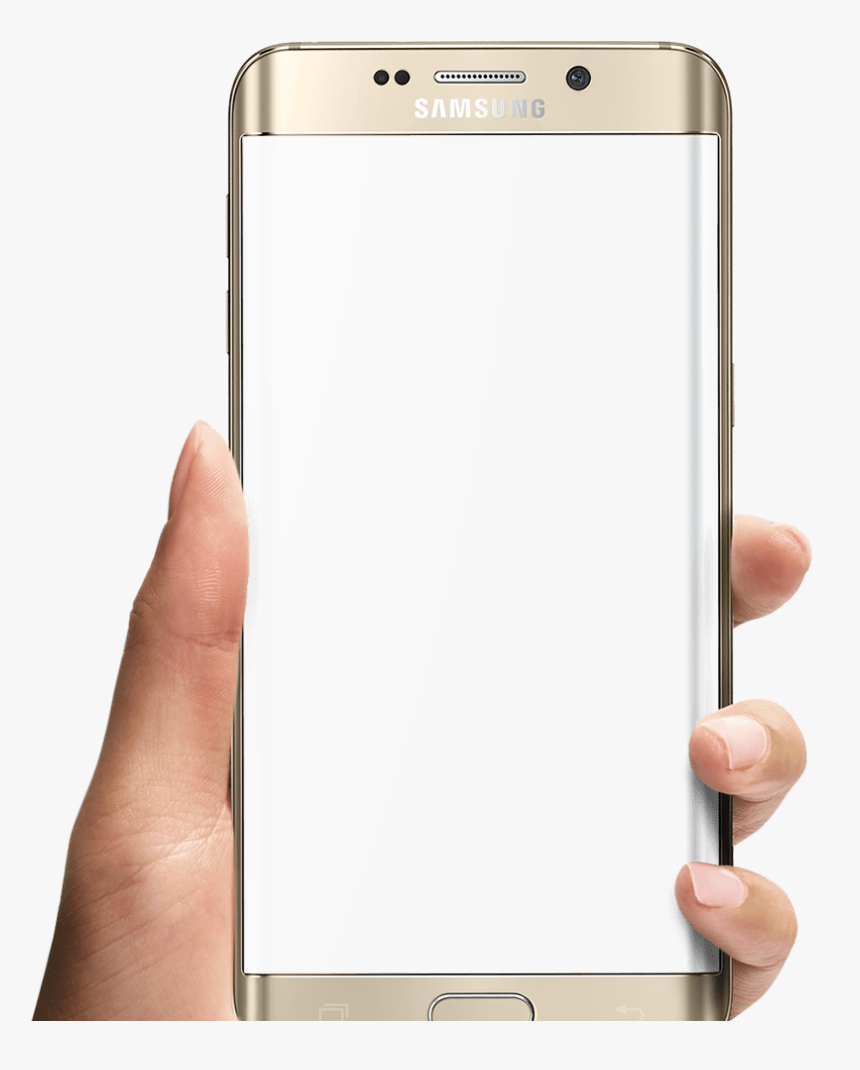 Phone In Hand Png - Mobile Frame On Hand Png, Transparent Png, Free Download