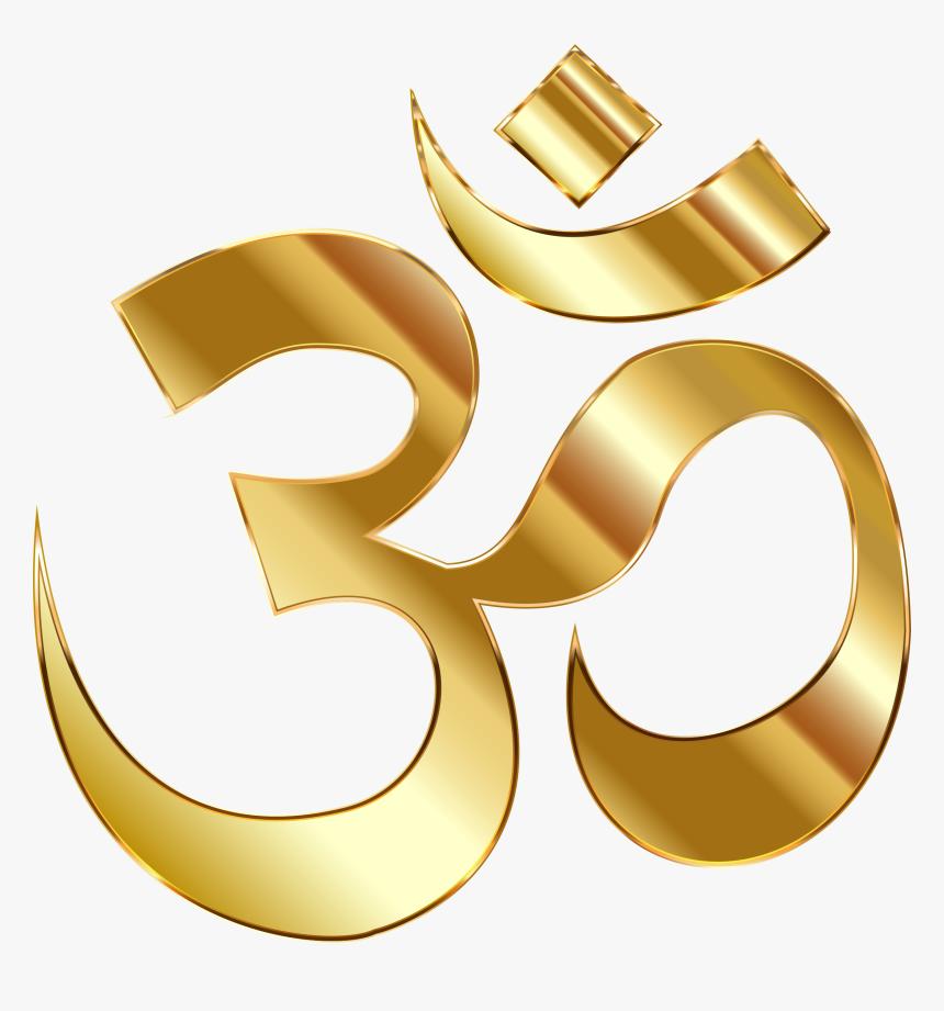 Golden Om Png, Transparent Png, Free Download