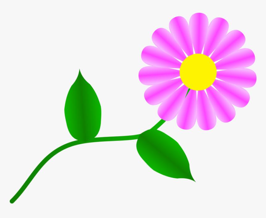 Plant,flora,leaf - Single Flower Clip Art Free, HD Png Download, Free Download
