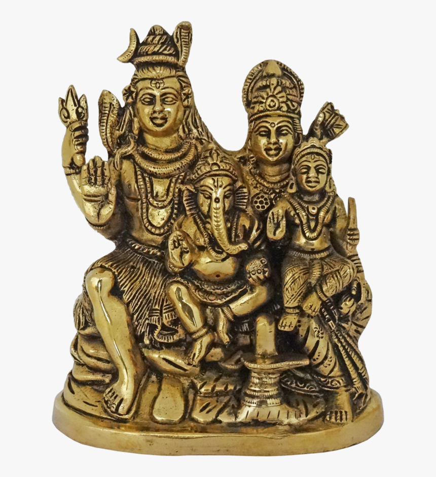 Religious Brass Hindu God Shiva With Goddess Parvathi, - Bronze Sculpture, HD Png Download, Free Download