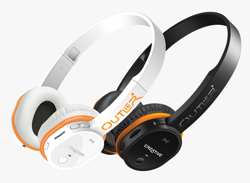 Mobile Earphone Download Png Image - Creative Outlier Bluetooth Headphones, Transparent Png, Free Download