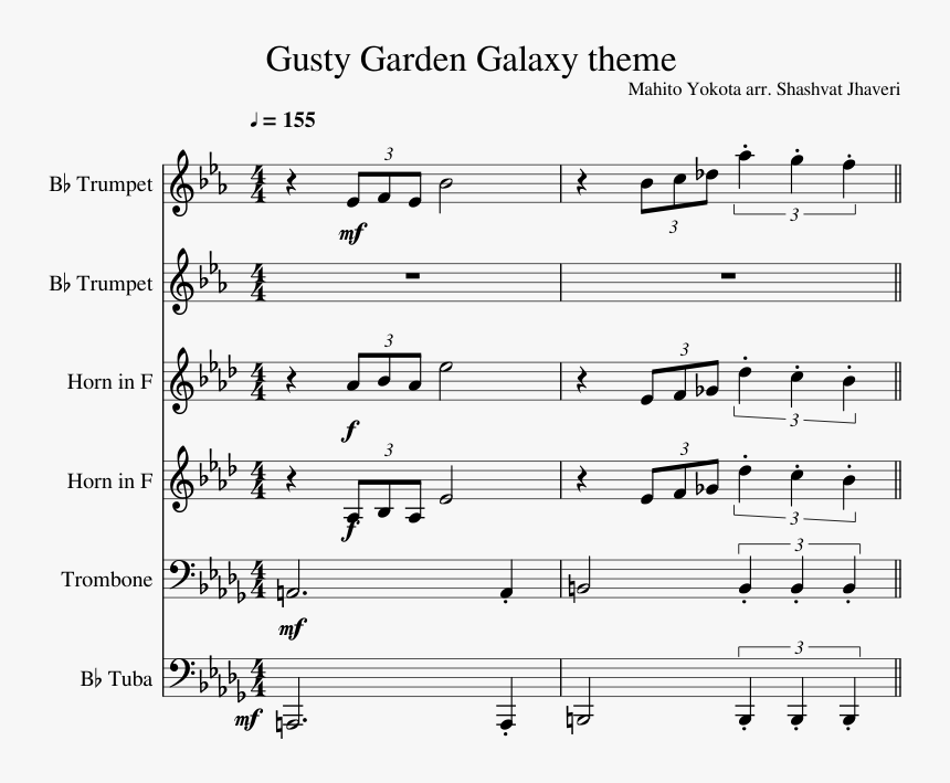 Gusty Garden Trumpet Music, HD Png Download, Free Download