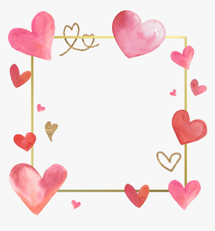 #love #frames #frame #borders #border #hearts #heart - Valentine Day Frame Coloring Pages, HD Png Download, Free Download