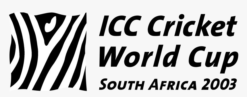 Icc Cricket World Cup Logo Black And White - 2003 World Cup Logo, HD Png Download, Free Download