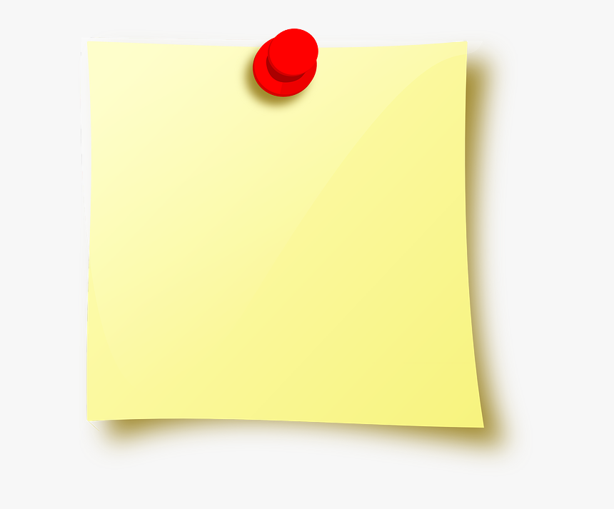 Post-it Note Drawing Pin Icon - Imagenes De Post It Para Escribir, HD Png Download, Free Download