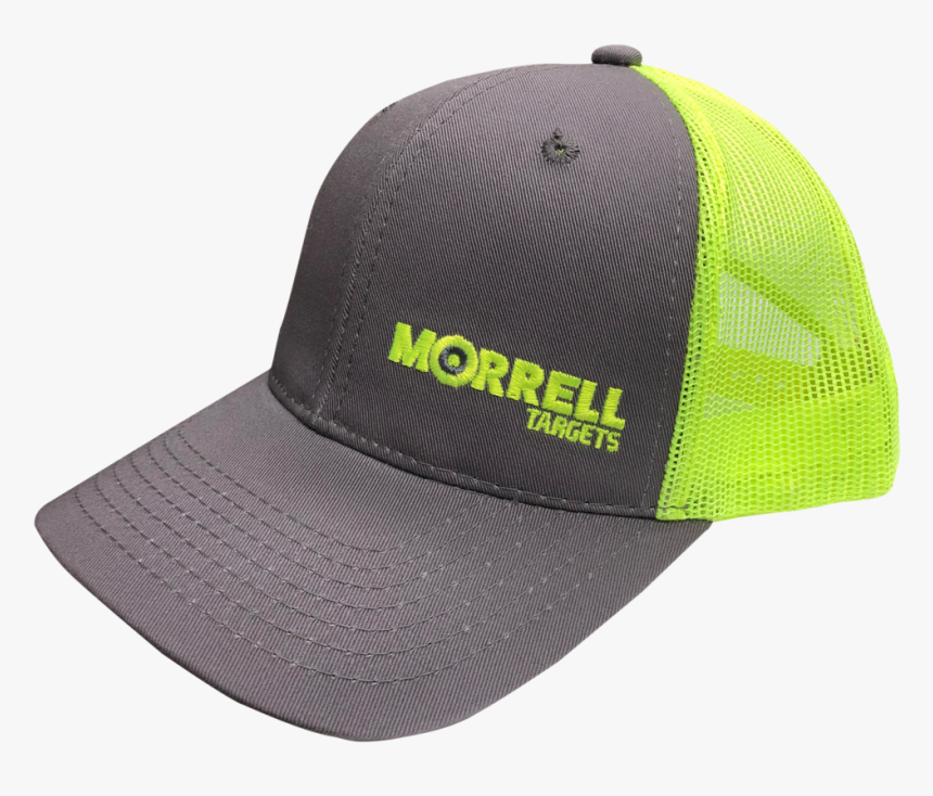 Morrell Targets Grey And Neon Structured Hat - Baseball Cap, HD Png Download, Free Download