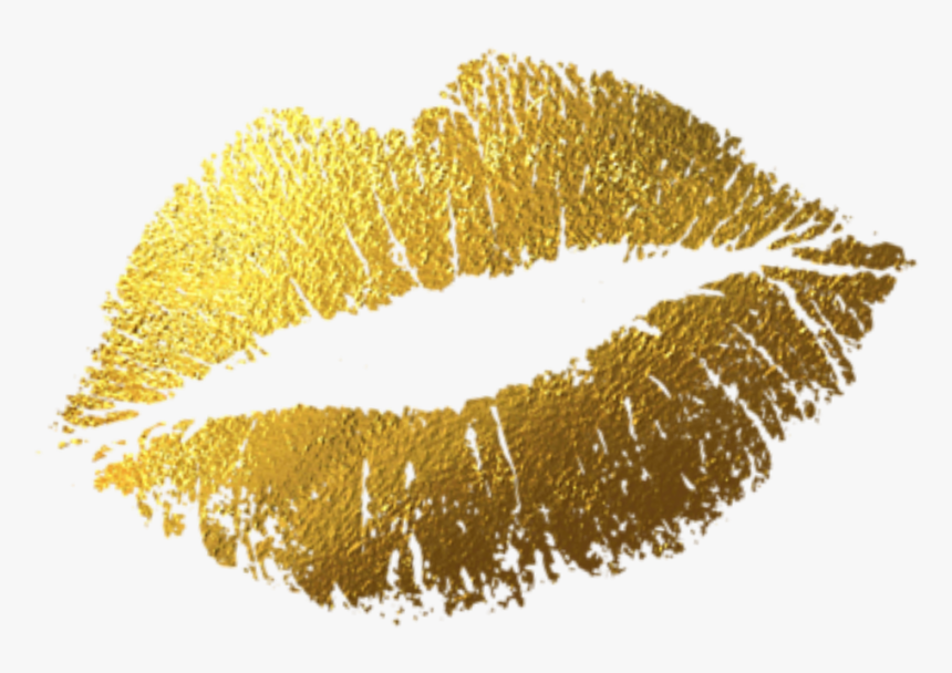 Lips Png Gold - Lipstick Kiss, Transparent Png, Free Download