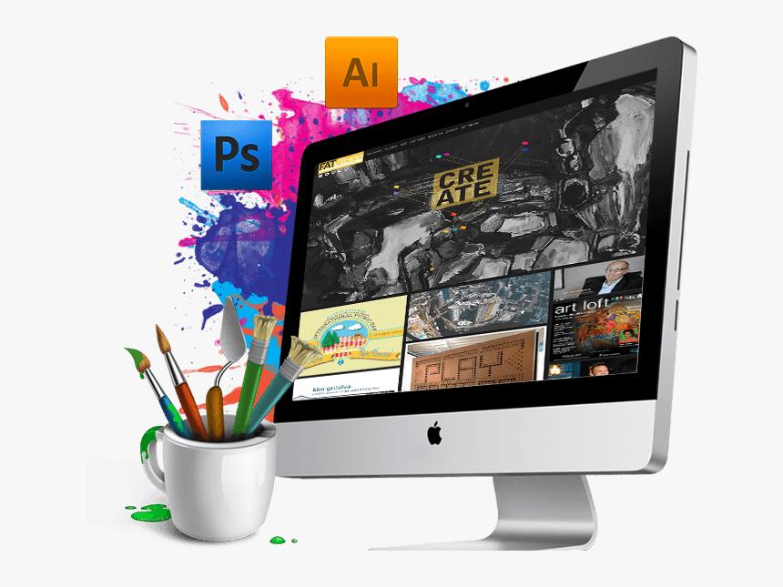 Creative Web Design Png - Graphic Designing Institute In Delhi, Transparent Png, Free Download