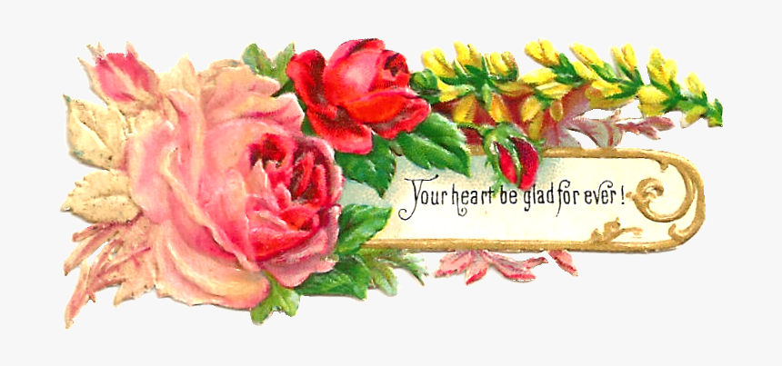 Victorian - Scroll - Clip - Art - Png - Victorian Clipart Of Vintage Flowers, Transparent Png, Free Download