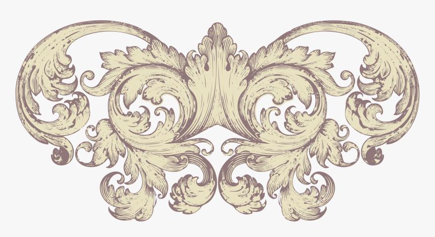 Decorative Engraving Arts Filigree Wedding Scroll Clipart - Baroque Foliage Motifs, HD Png Download, Free Download