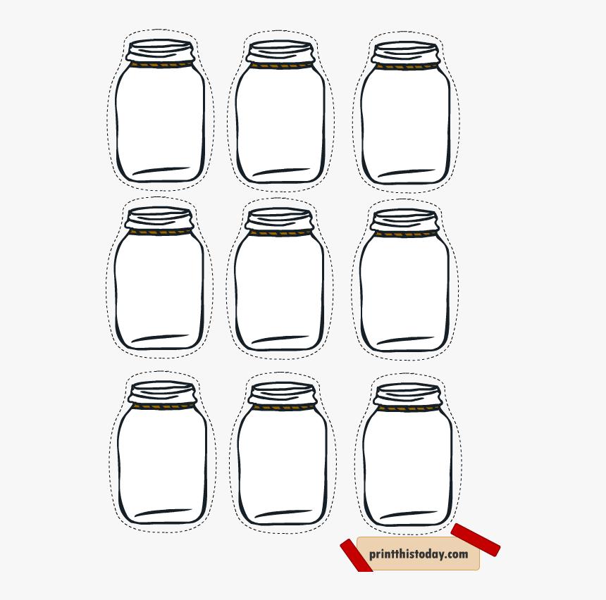 Printable Mason Jar Tag, HD Png Download, Free Download
