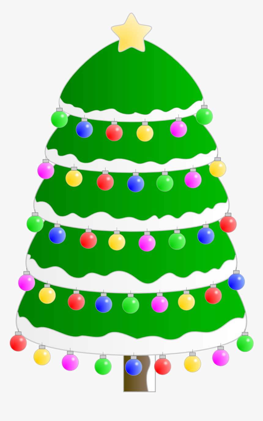Decorated Christmas Tree - Png Clipart Background Christmas Tree Colors Transparent, Png Download, Free Download