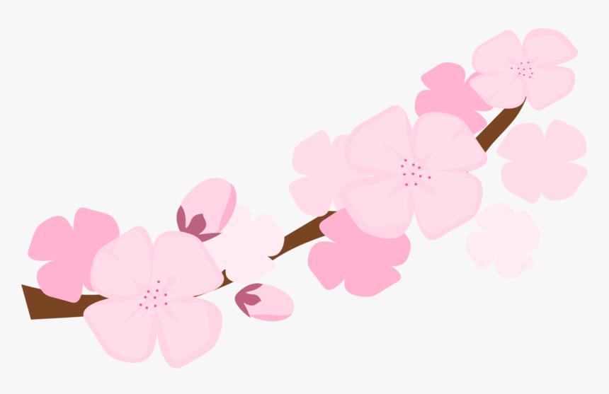 Transparent Cherry Blossom Clip Art - Sakura Flower Branch Clipart, HD Png Download, Free Download