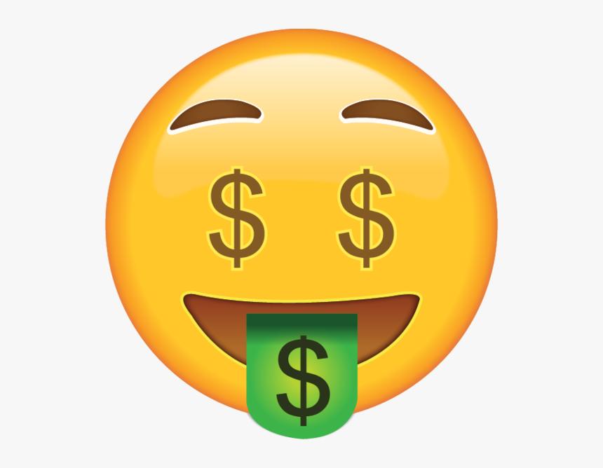 Money Face Emoji Png, Transparent Png, Free Download