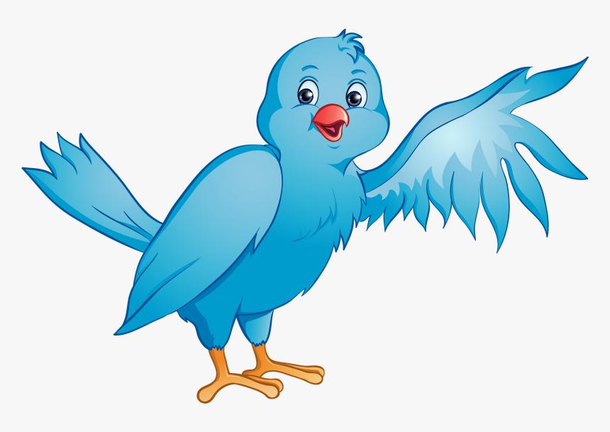 Blue Bird Png Clipart - Bird Wing Clip Art, Transparent Png, Free Download