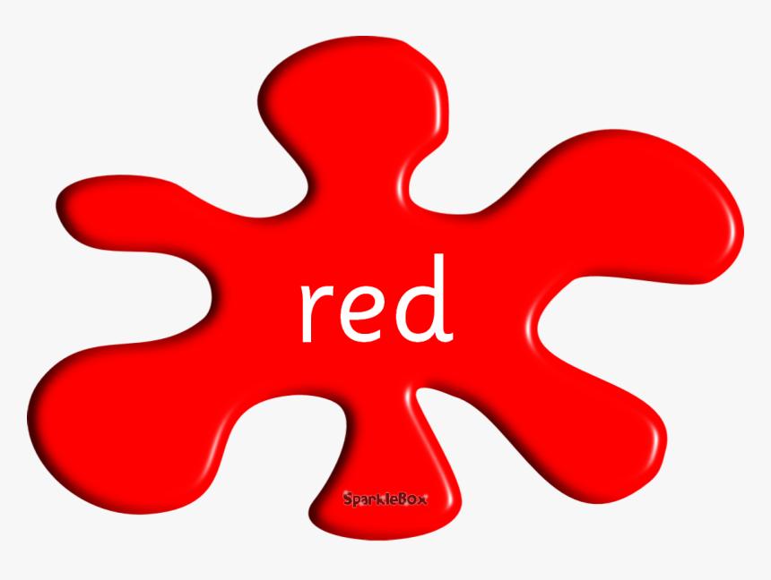 Splash Colours Learningenglish Esl - Clip Art Red Color, HD Png Download, Free Download