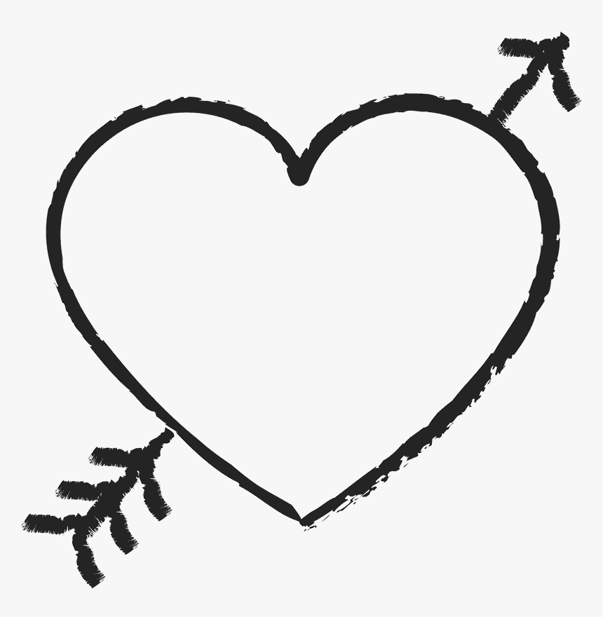 Heart Stamp Png - Heart With Arrow Through, Transparent Png, Free Download
