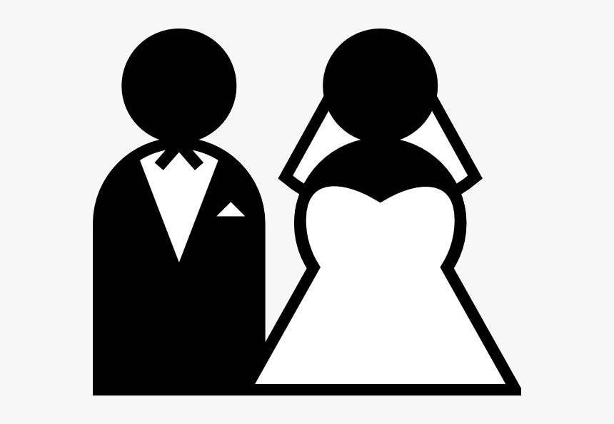 Wedding Sign Svg Clip Arts - Bride And Groom Cartoon, HD Png Download, Free Download