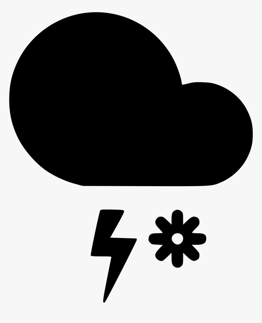 Snow Storm Cloud Lightning - Heart, HD Png Download, Free Download