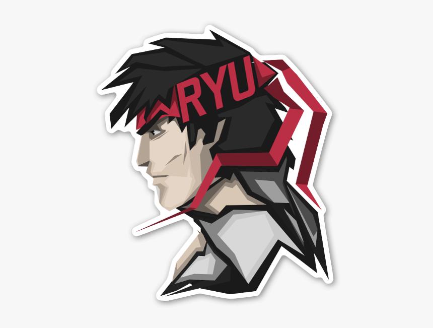 Homeless Warrior Sticker Ryu Street Fighter Logo Hd Png