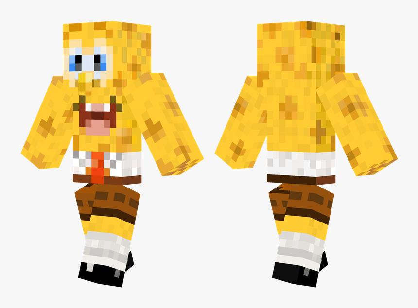 Spongebob Minecraft Skin Pe, HD Png Download, Free Download