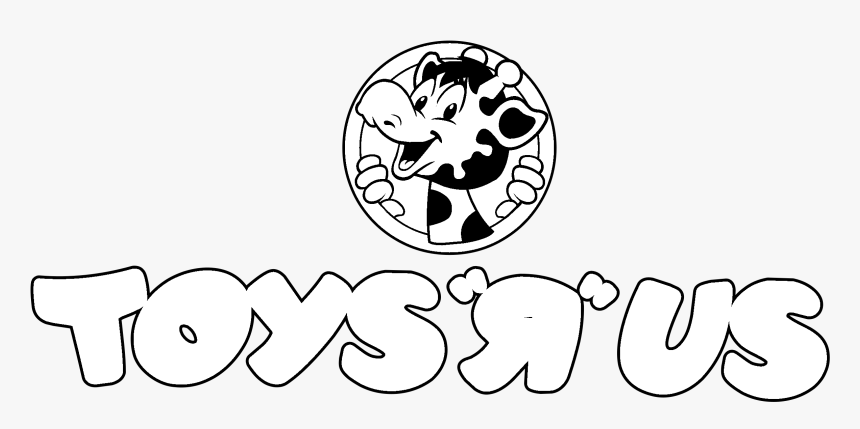 Toys R Us Logo Black And White , Png Download - Toys R Us Logo 80s, Transparent Png, Free Download