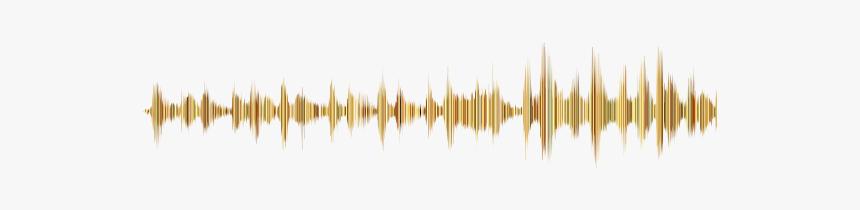 Gold Sound Wave No Background - Music Sound Waves Png, Transparent Png, Free Download