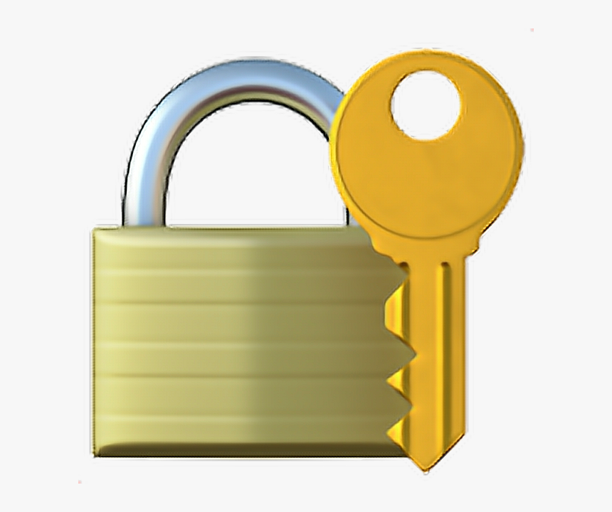 ❁ Lock With Key Emoji 🔐 - Lock And Key Hd, HD Png Download, Free Download