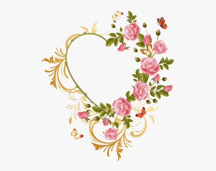 Heart Frame Png - Flower Heart Frame Png, Transparent Png, Free Download