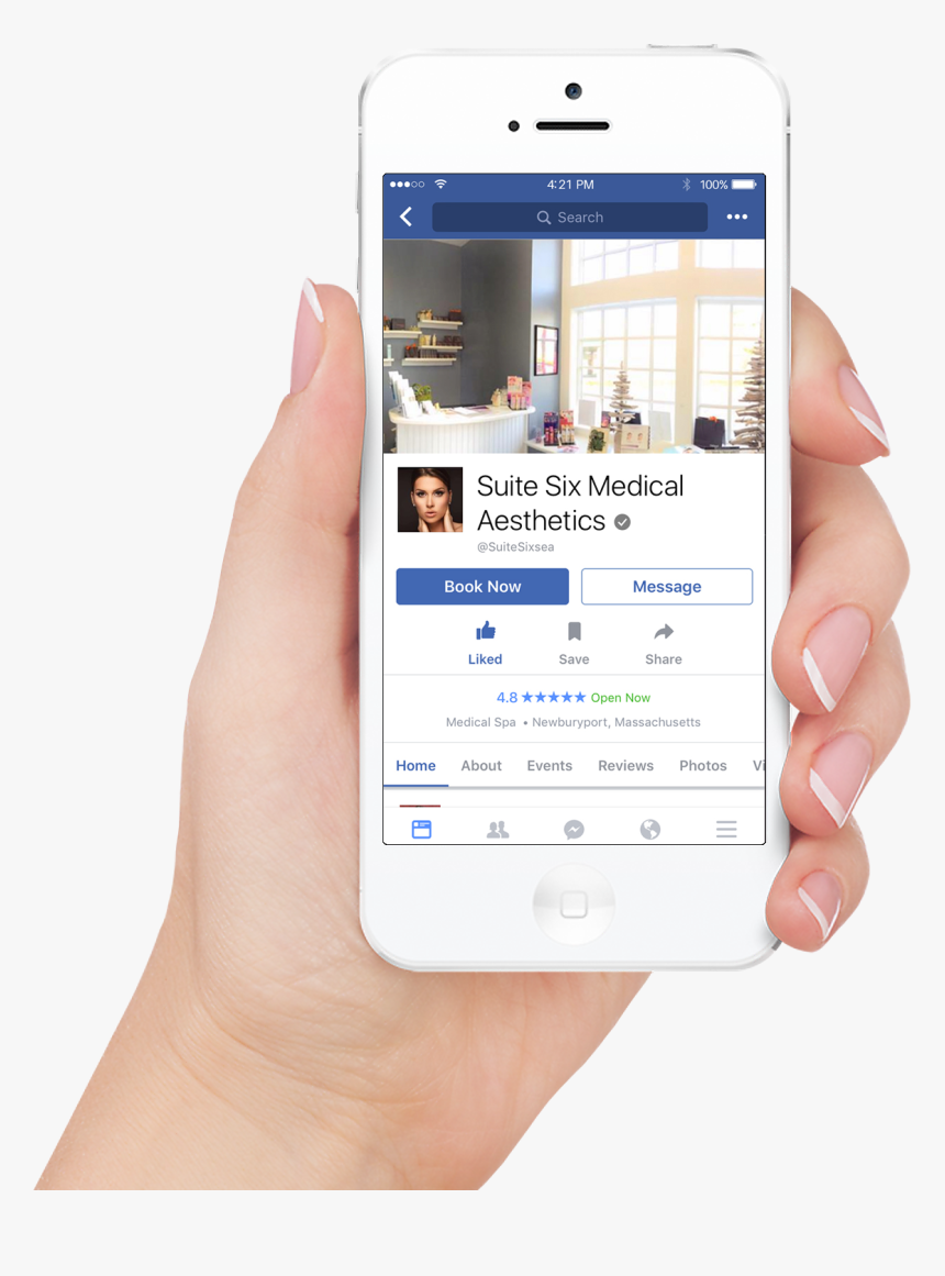 Woman Hand Iphone - Facebook Appointment, HD Png Download, Free Download