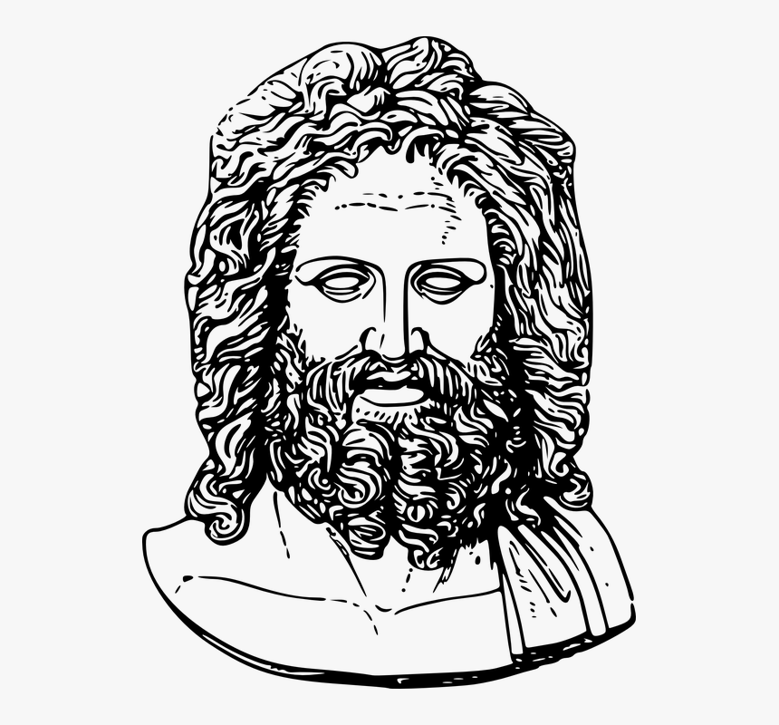 Statue Of Zeus Drawing, HD Png Download, Free Download