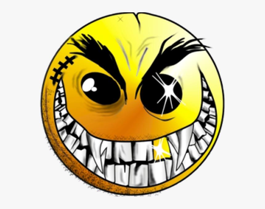 Evil Smiley Face Png Clipart , Png Download - Evil Crazy Smiley Face, Transparent Png, Free Download