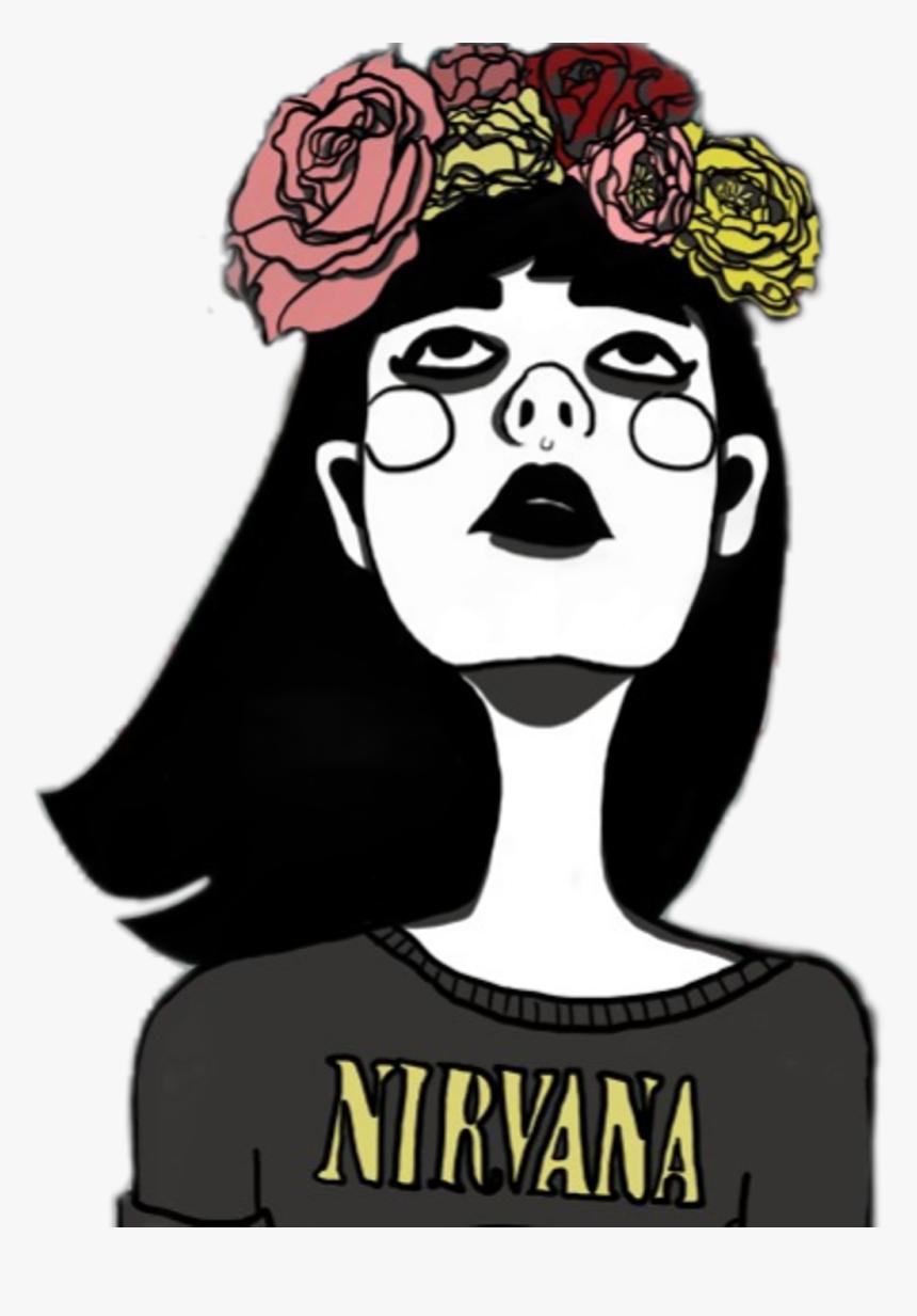 art #drawing #nirvana #tumblr #girl #flowercrown - Imagenes Tumblr ...