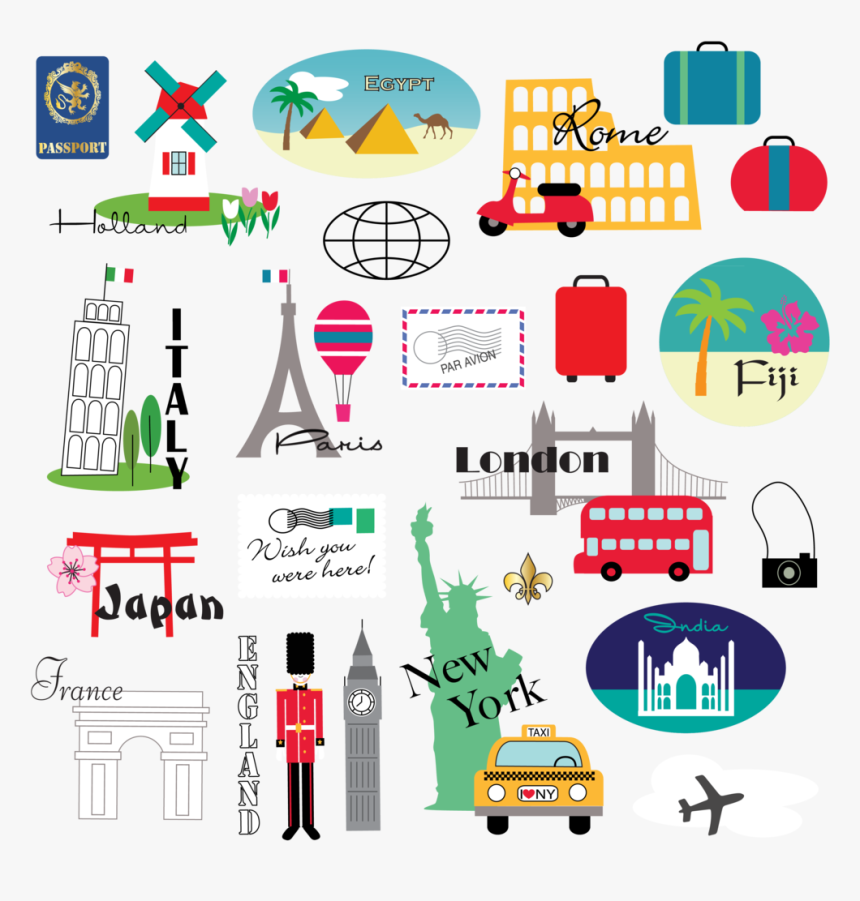 Clipart World Travel - World Travel Clipart, HD Png Download, Free Download