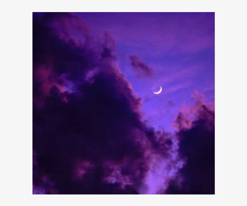 ##purple #aesthetic #aesthetics #highlights #highlight - Dark Clouds With Moon, HD Png Download, Free Download