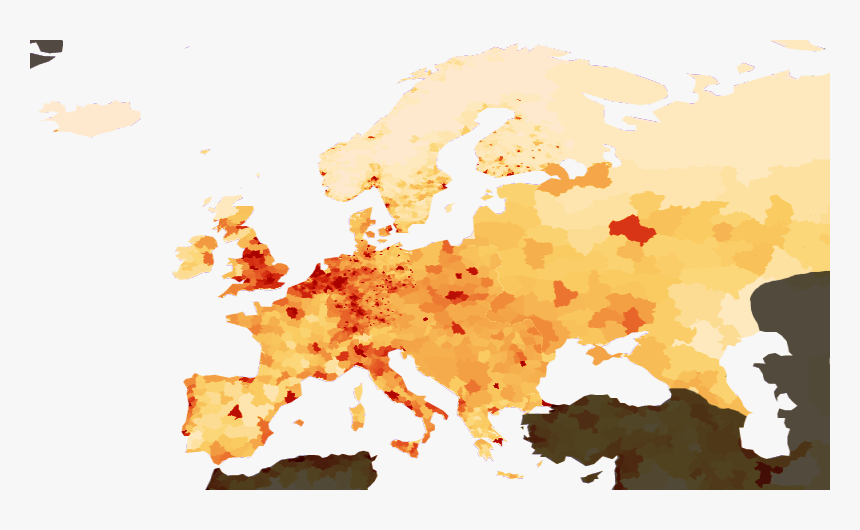 Population Density Europe - Europe Population, HD Png Download, Free Download