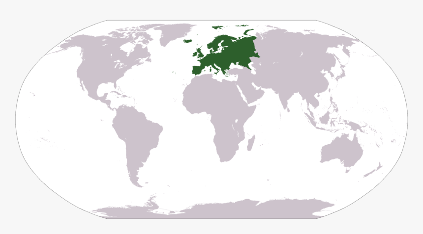 Highlight Europe On World Map, HD Png Download, Free Download