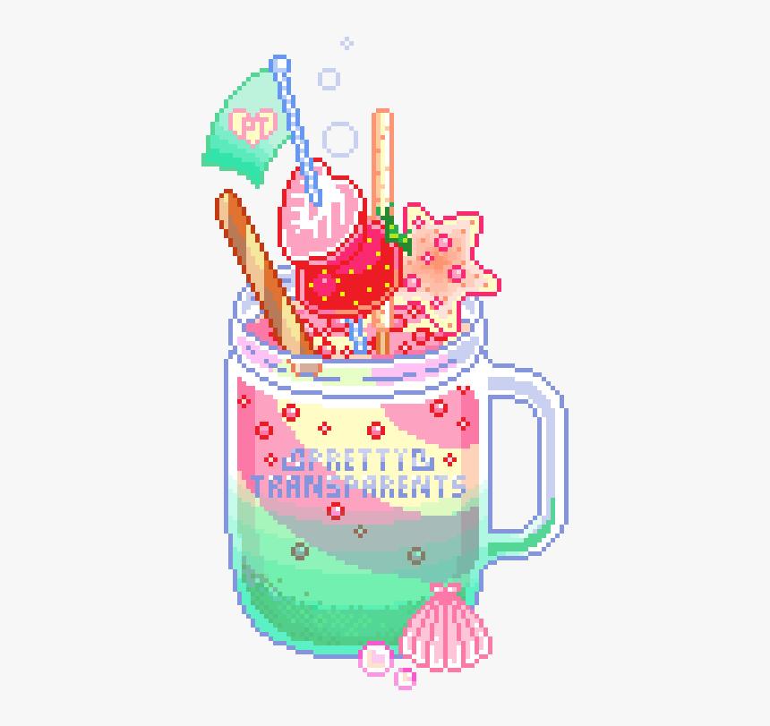 Mermy Kind Of Parfait - Pastel Food Pixel Art, HD Png Download, Free Download