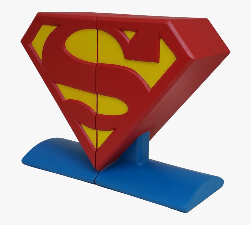 Dc Comics Superman Logo Bookends Superman Logo, Dc - Superman Logo Bookends, HD Png Download, Free Download