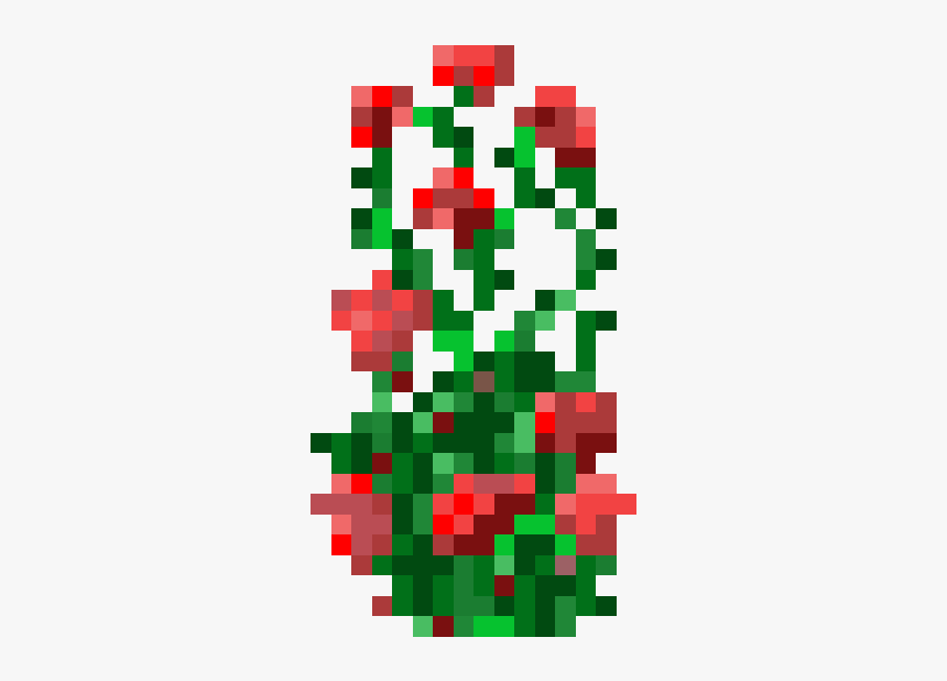 Rose Bush Minecraft Skin, HD Png Download, Free Download