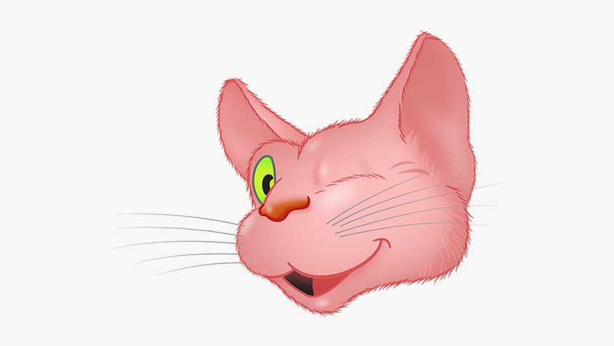 Pink Cat Emoji Messages Sticker-1 - Cat Yawns, HD Png Download, Free Download