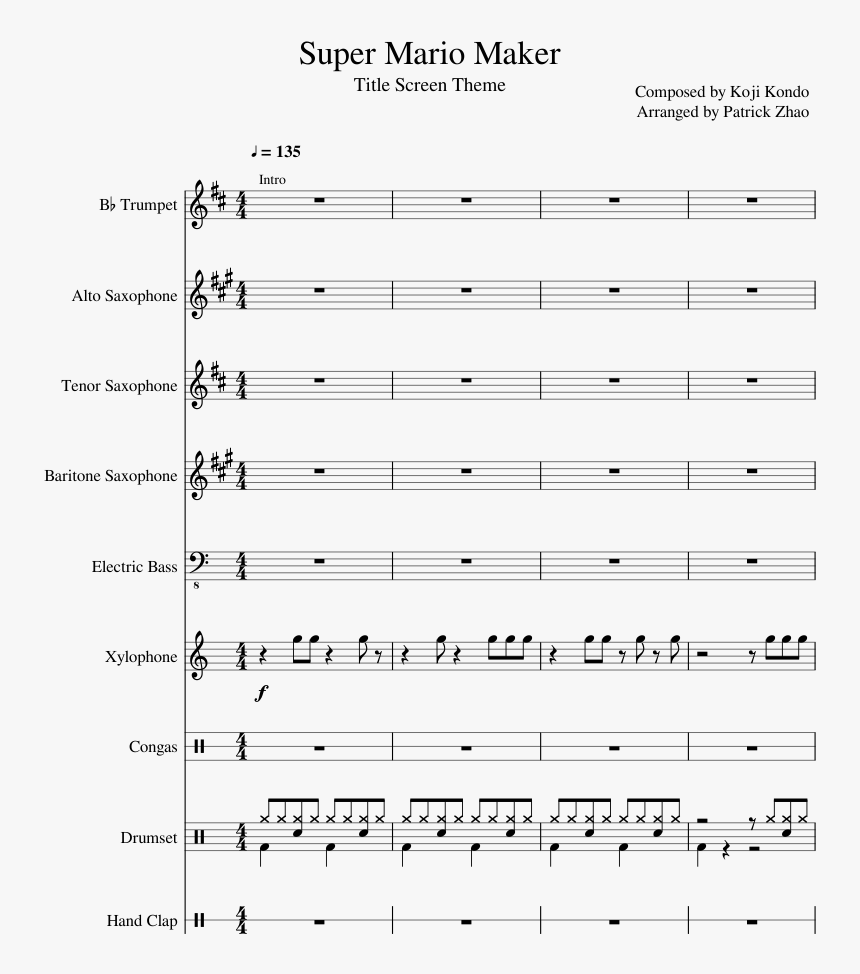 Super Mario Maker - Last Goodbye Flute Sheet Music, HD Png Download, Free Download