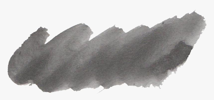 Black Watercolor Brush Stroke Png, Transparent Png, Free Download
