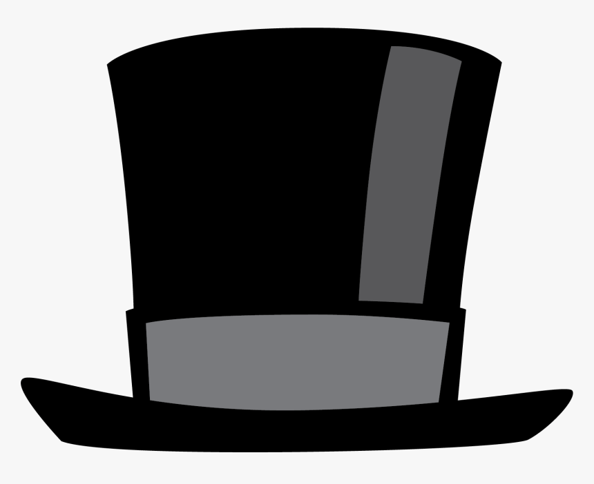 Clipart Transparent Library Black Top Hat Clipart - Clipart Hat, HD Png Download, Free Download